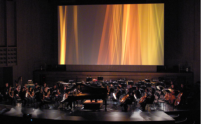A time-based work, 2007.3 projected for a symphony performance.